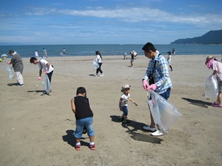 海岸清掃②