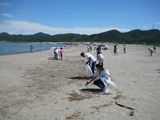 海岸清掃①